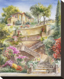 Lagodi Bracciano Stairway Stretched Canvas Print by Rita Zaudke