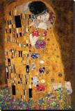 De kus, ca. 1907 (detail) Kunstdruk op gespannen doek van Gustav Klimt