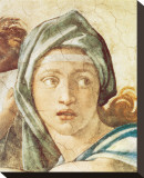Chapel Sistine, The Delphic Sibyl Stretched Canvas Print by Michelangelo Buonarroti