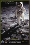 Walk on the Moon Stretched Canvas Print