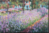 The Artist's Garden at Giverny, c.1900 Stretched Canvas Print by Claude Monet
