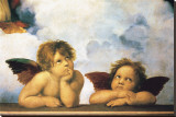 Cherubini Stretched Canvas Print by  Raphael