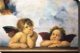 Cherubini Stretched Canvas Print by  Raphael
