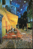 The Café Terrace on the Place du Forum, Arles, at Night, c.1888 (detail) Stretched Canvas Print by Vincent van Gogh