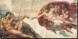 Michaelangelo's Creation of Adam Leinwand von  Michelangelo Buonarroti