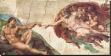 Michelangelo Buonarroti - Adem'in Yaratılışı - Şasili Gerilmiş Tuvale Reprodüksiyon