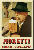 Moretti Birra Friulana Stretched Canvas Print