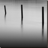 Three Poles at Gold Beach Stretched Canvas Print by Shane Settle