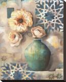 Mediterranean Poppies IV Stretched Canvas Print by Louise Montillio