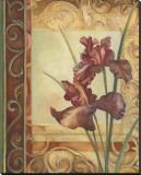 Purple Irises Stretched Canvas Print by Louise Montillio