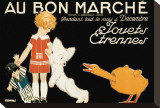 Au Bon Marche, Jouets et Etrennes Stretched Canvas Print by Ren&#233; Vincent