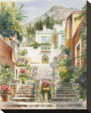 Taormina Stretched Canvas Print by Rita Zaudke