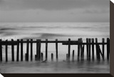 Old Pier II Stretched Canvas Print by Shane Settle