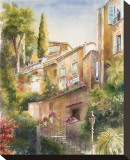 Lagodi Bracciano Highrise Stretched Canvas Print by Rita Zaudke