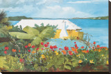 Flower Garden and Bungalow, Bermuda, c.1899 Reproduction transférée sur toile par Winslow Homer