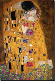 Gustav Klimt - Polibek, cca1907 (detail) Reprodukce na plátně