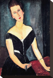 Madame G. Van Muyden Stretched Canvas Print by Amedeo Modigliani