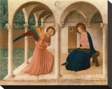 L&#39;Annunciazione, 1387-1455 Stretched Canvas Print by Fra Angelico 