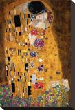 Kysset, ca. 1907 Opspændt lærredstryk af Gustav Klimt