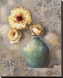 Mediterranean Poppies II Stretched Canvas Print by Louise Montillio
