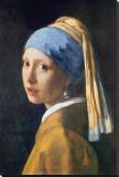 Jan Vermeer - Girl with Pearl Earring Reprodukce na plátně