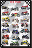 Road Racers Stretched Canvas Print