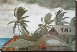 Hurricane, Bahamas, c.1898 Stretched Canvas Print by Winslow Homer