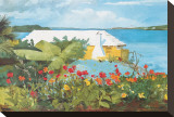 Flower Garden and Bungalow, Bermuda, c.1899 Stretched Canvas Print by Winslow Homer