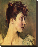 Portrait of Countess von de Leusse Stretched Canvas Print by Giovanni Boldini