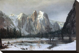 Cathedral Rocks, Yosemite Valley, California Stretched Canvas Print by Albert Bierstadt
