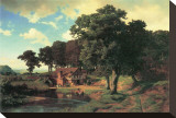 Country Mill Stretched Canvas Print by Albert Bierstadt