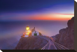 Night At Point Reyes Lighthouse Stretched Canvas Print by Harold Davis