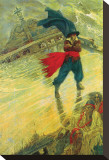 The Flying Dutchman Stretched Canvas Print by Howard Pyle