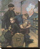 The Emigrants Stretched Canvas Print by Hans Baluschek