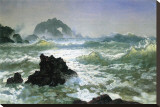 Seal Rock, California Stretched Canvas Print by Albert Bierstadt