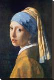 Muchacha con el pendiente de perla Reproducción en lienzo de la lámina por Jan Vermeer