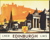 Edinburgh Stretched Canvas Print