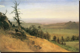 Wasatch Mountain, Nebraska Stretched Canvas Print by Albert Bierstadt
