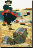Buried Treasure Stretched Canvas Print by Howard Pyle