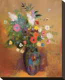 Bouquet of Flowers, c.1905 Stretched Canvas Print by Odilon Redon