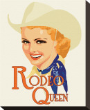Rodeo Queen Stretched Canvas Print by Richard Weiss
