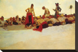 So The Treasure Was Divided Stretched Canvas Print by Howard Pyle