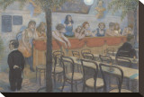 Variety Restaurant Stretched Canvas Print by Hans Baluschek