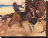 Away, You Grieve Me! Stretched Canvas Print by Sir William Russell Flint