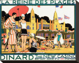 Dinard, La Reine Des Plages Stretched Canvas Print by Kenneth D. Shoesmith