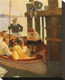 At Queen's Ferry, Kidnapped Stretched Canvas Print by Newell Convers Wyeth