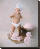 Baby Baker Stretched Canvas Print by Linda Johnson