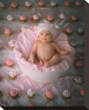 Cupcake Stretched Canvas Print by Linda Johnson