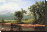 Wind River Mountains, Wyoming Stretched Canvas Print by Albert Bierstadt