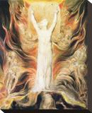 God Writing the Commandments Boards Leinwand von William Blake